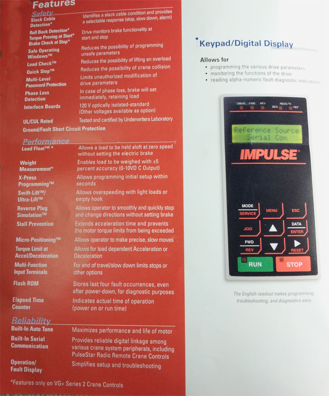Impulse Keypad/Digital Display